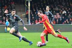 12-01-2020: - FarisHammouti - MartijnBerden - Voetbal: Go Ahead Eagles v Almere City FC: Deventer
