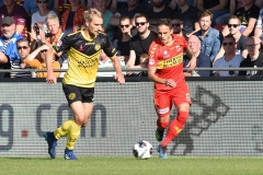 14-10-2018: - TimVayrynen - JaroslavNavratil - Voetbal: Go Ahead Eagles v Roda JC: DeventerKeuken Kampioen Divisie seizoen 2018-2019L-R: Tim Vayrynen of Roda JC, Jaroslav Navratil of Go Ahead Eagles