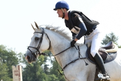 21-07-2018: TarikvanBoggelen - Paardensport: Eventing cross country: EmmeloordTarik vab Boggelen met For Joy van het AkenhofPaardensport Eventing Emmeloord 2018